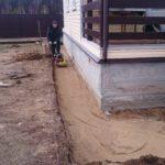 2. подстилающий слой из песка