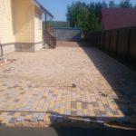 6. Укладка тротуарной плитки